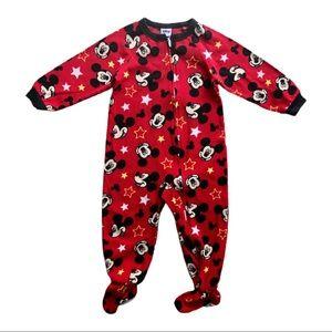 ⭐️ 3T Disney Mickey Mouse Fleece Footie Pajamas
